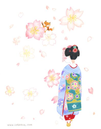 歲時京都-櫻舞妓